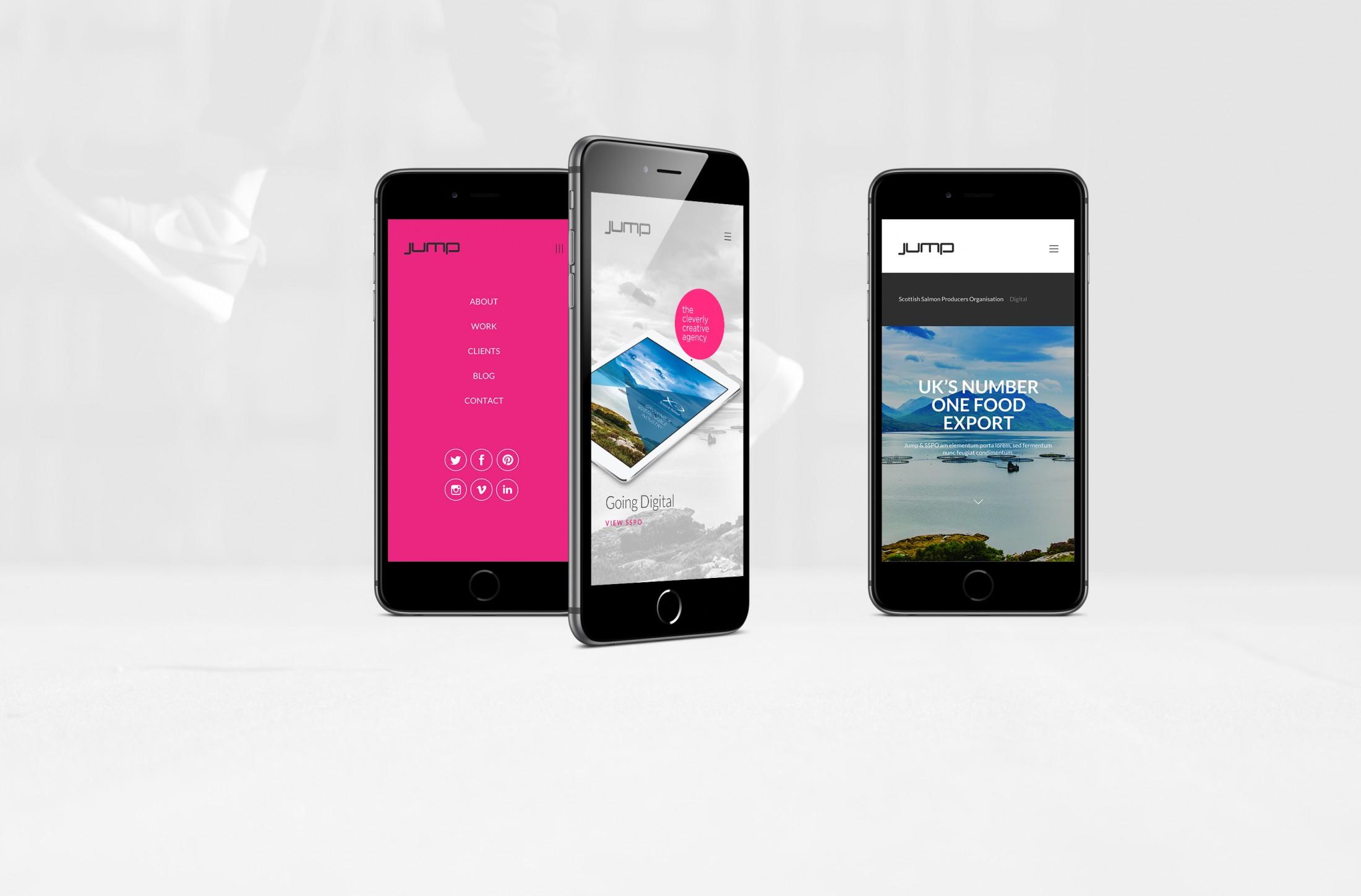 Jump branding for responsive website